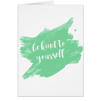 Cartão Seja amável a o senhor mesmo aguarela