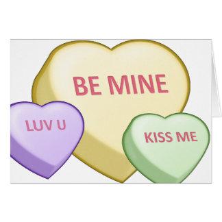 Cartão SEJA coração dos doces da MINA, coração dos doces