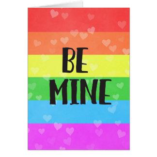 Cartão Seja dia dos namorados do orgulho da mina LGBT
