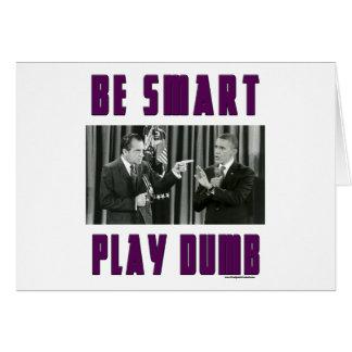 Cartão Seja esperto - jogo mudo