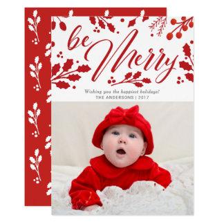 Cartão Seja foto pintada feliz do feriado do Natal do