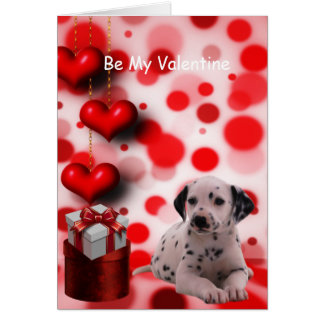 Cartão Seja meu cão de filhote de cachorro de Dalmation