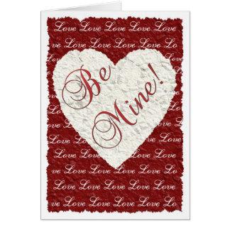 Cartão Seja meu! Namorados
