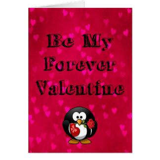 Cartão Seja meu pinguim dos namorados do Forever