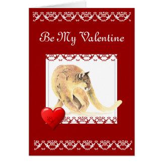Cartão Seja meus namorados crescem velho comigo o puma