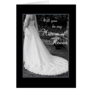 Cartão Seja minha matrona da honra
