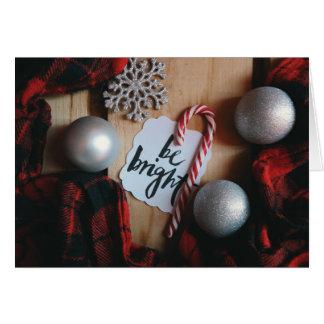 Cartão Seja Natal brilhante