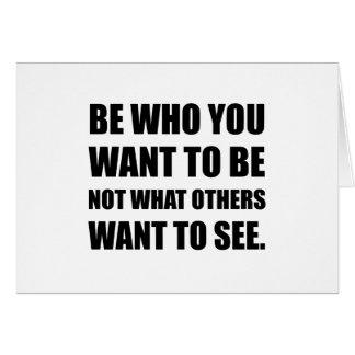 Cartão Seja quem você quer ser