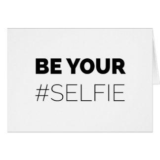 Cartão Seja seu auto - selfie