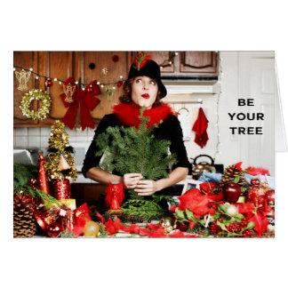 """Cartão """"Seja sua árvore """""""