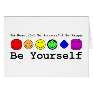 Cartão Seja você mesmo