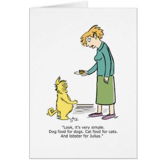 Cartão seletivo de Julius do gato