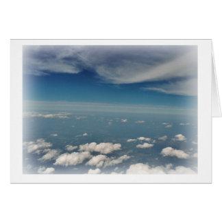 Cartão Selo das nuvens