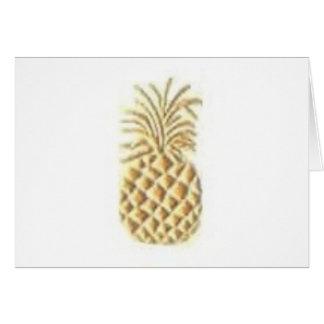 Cartão Selo do abacaxi