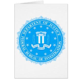 Cartão Selo do FBI no azul