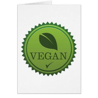 Cartão Selo do Vegan