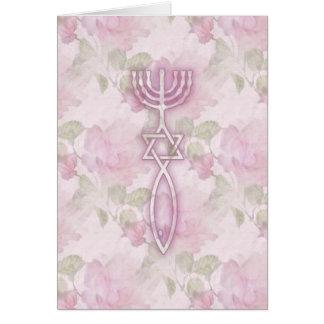 Cartão Selo messiânico floral