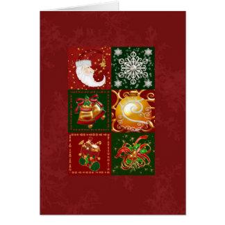 Cartão Selos do Natal