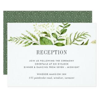 Cartão selvagem da recepção do prado convite 8.89 x 12.7cm