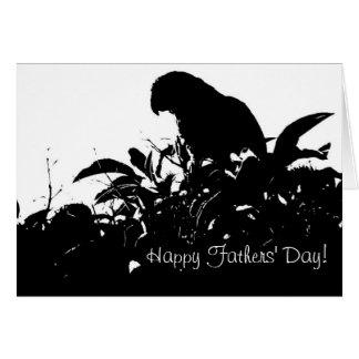 Cartão selvagem do dia de pais do papagaio de