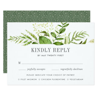 Cartão selvagem do prado RSVP com escolhas da Convite 8.89 X 12.7cm