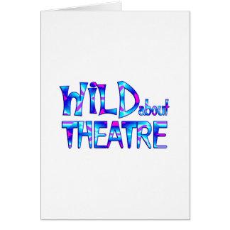 Cartão Selvagem sobre o teatro