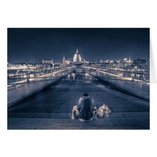 Cartão Sem abrigo em Londres