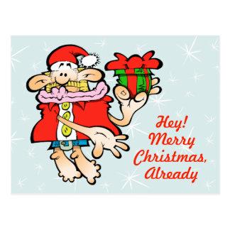 Cartão sem-sentido do Natal do papai noel
