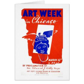 Cartão Semana da arte de Chicago WPA 1940