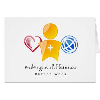 Cartão Semana Notecard das enfermeiras