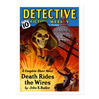 Cartão semanal da ficção do detetive