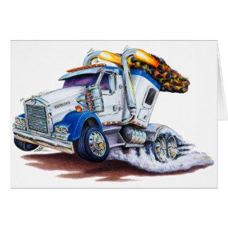 Cartão Semi caminhão com Sleepercab