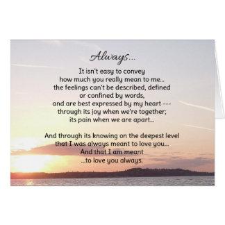 Cartão Sempre… amor