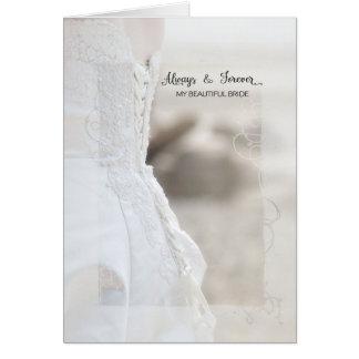 Cartão Sempre e para sempre aniversário bonito da noiva