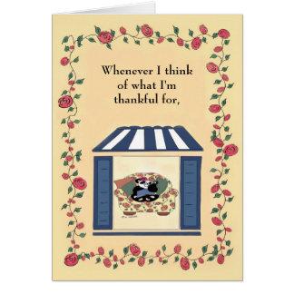 Cartão Sempre que eu penso do que eu sou grato para…