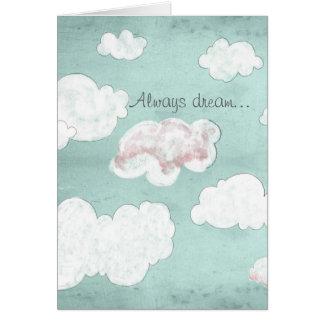 Cartão Sempre sonho…