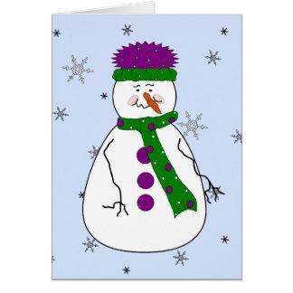 Cartão Senhor Boneco de neve, primitivo lunático da neve