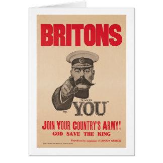 Cartão Senhor Kitchener Querer Você WWI Propaganda de