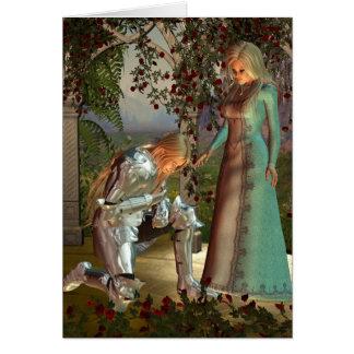 Cartão Senhor Launcelot e rainha Guinevere