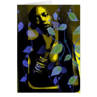 Cartão Senhora africana Ouro