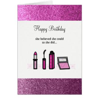 Cartão Senhora bem sucedida Aniversário da composição