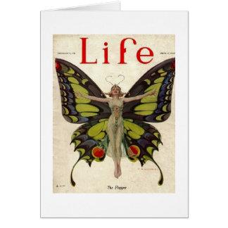 Cartão Senhora Borboleta do Flapper