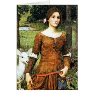 Cartão Senhora Clare e a jovem corça