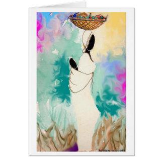 Cartão Senhora com cesta