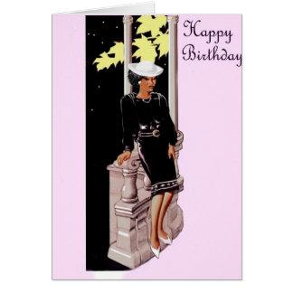 Cartão senhora da igreja