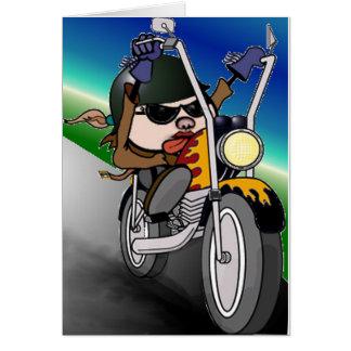 Cartão Senhora da motocicleta