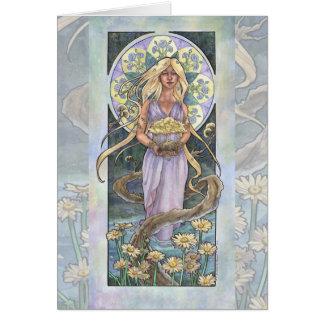 Cartão Senhora da série de Nouveau Birthstone da arte de