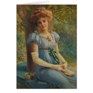 Cartão Senhora Daydreaming,