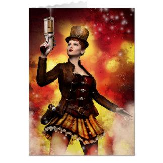 Cartão Senhora de Steampunk