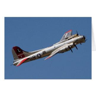 Cartão Senhora do ianque de B-17 G
